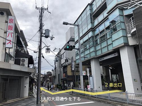 三条駅→ZINE galleryへの道順